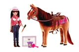DOLL AG CAMP N HORSE SET 10IN