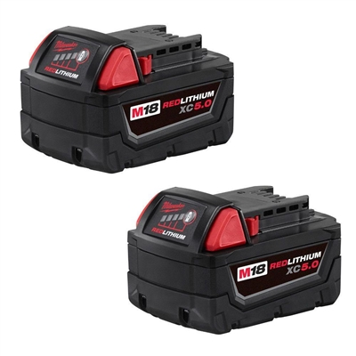 M18™ 18 Volt Lithium-Ion  REDLITHIUM™ XC5.0 Amp Extended Capacity Battery Two Pack