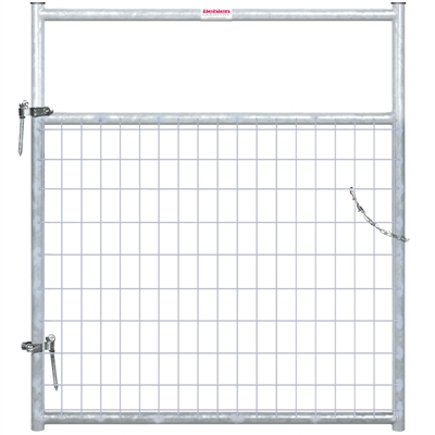 4' 2x4 WIRE FILLED GATE GRAY
