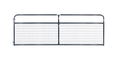 12' 2x4 WIRE FILLED GATE GRAY