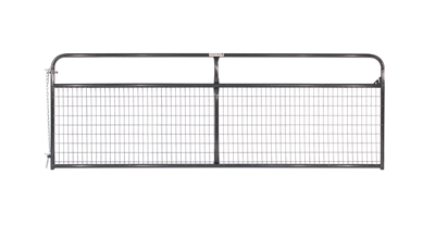 16' 2x4 WIRE FILLED GATE GRAY