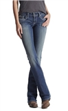 Womens Mid Rise Stretch Entwined Boot Cut Jean