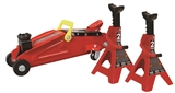 TORIN 2 TON FLOOR JACK WITH JACK STANDS COMBO