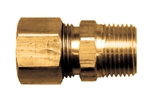 "CONNECTOR  COMPRESSION 3/8"" TUBE TO 1/4MPT"