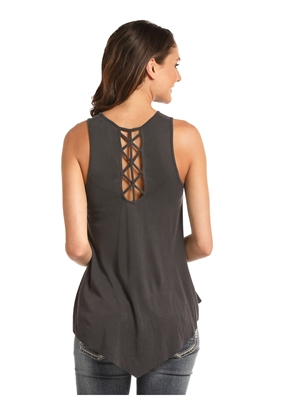 WOMEN'S NO SLEEVE STRING SHIRT