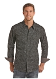 MEN'S LONG SLEEVE SPRAY WASHED SHIRT