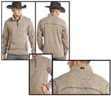 MENS ZIP FLEECE PULLOVER