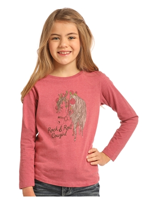 YOUTH R&R COWGIRL HORSE SHIRT