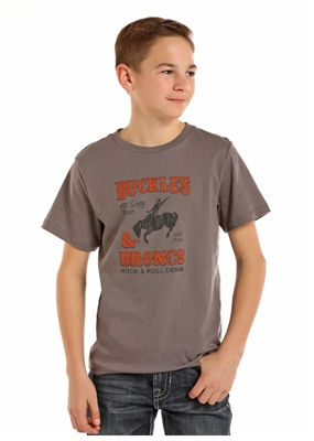 YOUTH BUCKLES & BRONKS SHIRT