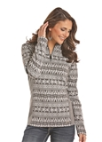 SWEATER WMS AZTEC GRY-L