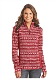 SWEATER WMS AZTEC RED-2XL