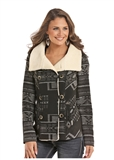 WOMENS PATTERNED WOOL JACKET