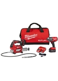 M18™ 18 Volt Lithium-Ion Brushless Cordless FUEL™ Impact Wrench and Grease Gun Kit