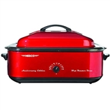 ROASTER OVEN 18QT RED