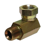 "Hydraulic Adapter 1/4"" Male Pipe x 3/8"" Female Pipe Swivel 90-Degree"