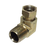 "3/8"" MALE X 1/2"" FEMALE 90-DEGREE SWIVEL HYDRAULIC ADAPTER"