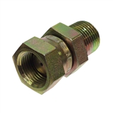 "Hydraulic Adapter 1/2"" Male Pipe x 1/2"" Female Pipe Swivel Restricted"