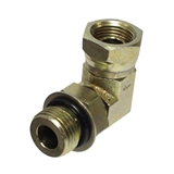 "Hydraulic Adapter 1/2"" Male O-ring x 3/8"" Female Pipe Swivel 90-Degree"