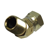 "Hydraulic Adapter 1/2"" Male x 1/2"" Female Pipe Swivel 40-Degree"