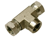"Hydraulic Adapter 3/8"" Female Pipe x 3/8"" Female Pipe Swivel x 3/8"" Female Pipe Swivel"