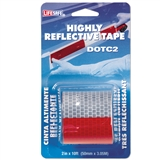 "TAPE RED/SLV HI REFLEC 2""X10'"