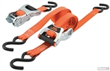 "1"" X 8' 2 PACK RATCHET STRAP WITH WEB CLAMP"