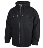 SHERPA LINED HOODED SHIRT JACKET