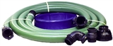 "2"" HOSE TRANSFER PUMP KIT WITH POLY COUPLERS"