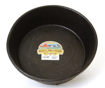 8 QUART RUBBER FEED PAN