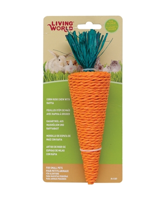 LIVING WORLD SMALL ANIMAL NIBBLERS CORN HUSK CHEWS, CARROT