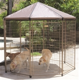 7.5' X 7.5' X 7.5' THE PAVILION PET GAZEBO OUTDOOR KENNEL