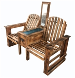 BENCH WOODEN  W COOLER