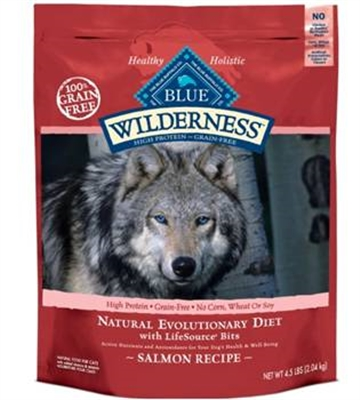 10.9KG BLUE BUFFALO WILDERNESS SALMON DOG FOOD