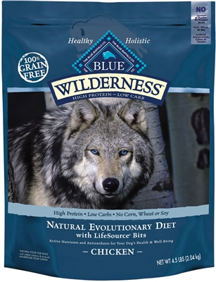 10.9KG BLUE BUFFALO WILDERNESS CHICKEN DOG FOOD