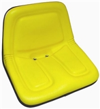 Deluxe Ultra-High Back Steel Pan Seat, Yellow