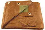 18' X 24' BROWN/GREEN MID GRADE POLY TARP