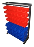 43 PIECE STORAGE RACK WITH REMOVABLE BINS
