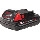 MILWAUKEE M18 RED LITHIUM 2.0AH BATTERY