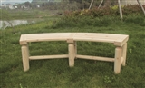 BENCH WOODEN LOG CURVED