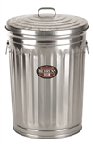 31 GALLON GALVANIZED GARBAGE CAN WITH COVER