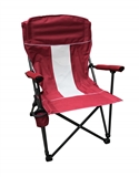 RED FOLDING CHAIR WITH CUPHOLDER