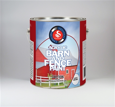 PAINT BARN BRWN ACRLYIC 3.78L