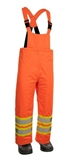 HI VIS LINED MINERS OVERALLS