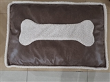 BED PET LEATHER BRWN CIRCLE LG
