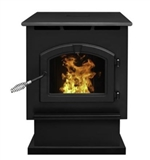Pleasant Hearth Large Pellet Stove - 50,000 BTU - 34-in x 6.5-in