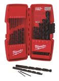 MILWAUKEE 21 PIECE THUNDERBOLT BLACK OXIDE DRILL BIT SET