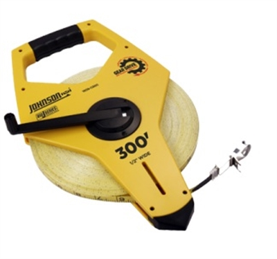 "1/2"" X 300' JOHNSON OPEN REEL JOB SITE MEASURING TAPE"