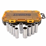 10 PIECE 1/2 IN DRIVE DEEP METRIC SOCKET SET