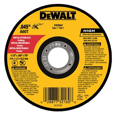 DEWALT CUT OFF WHEEL