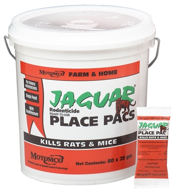 25GM JAGUAR RODENTICIDE PLACE PACS